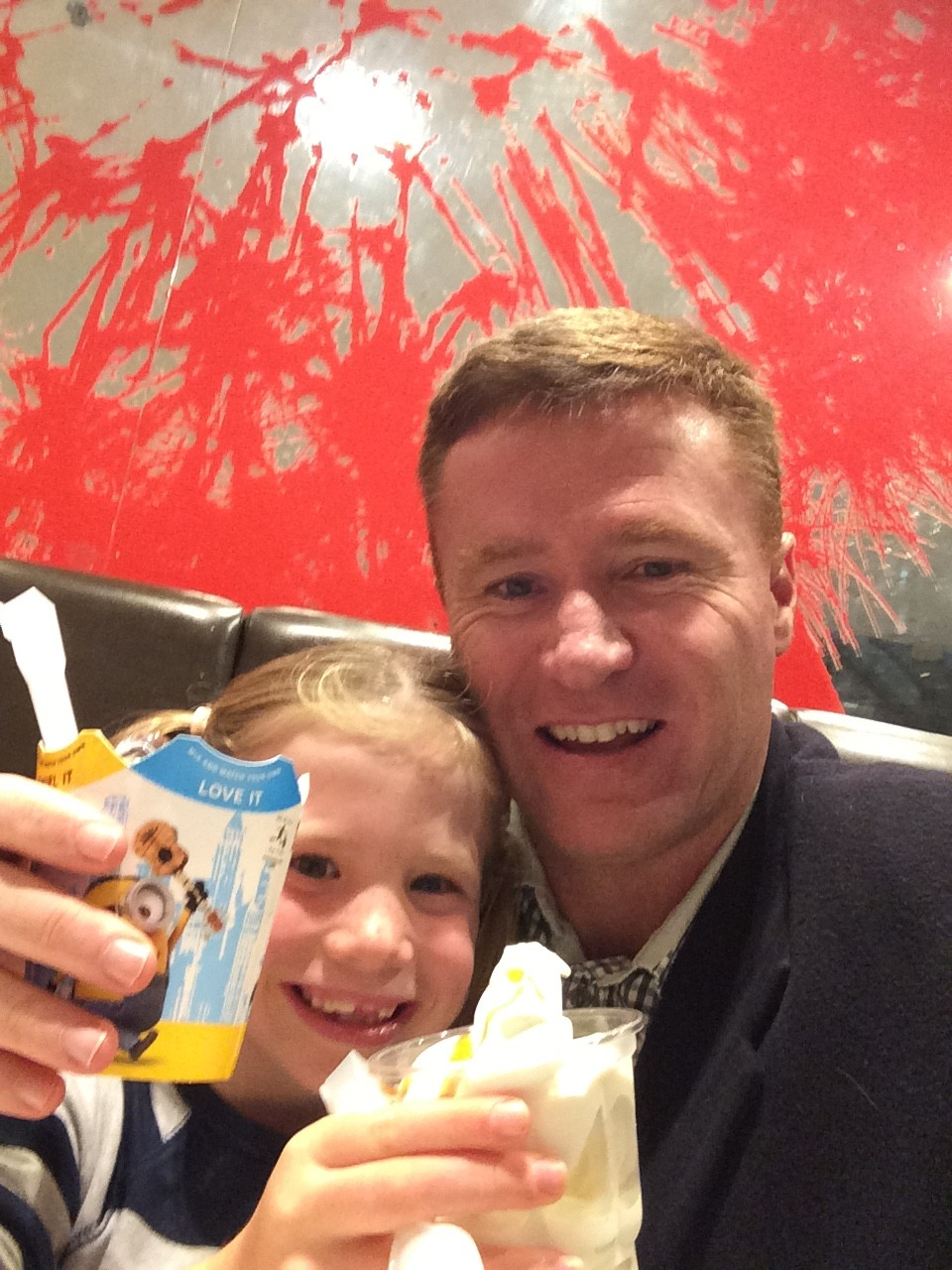 Michael Carmody having an ice-cream date with his daughter