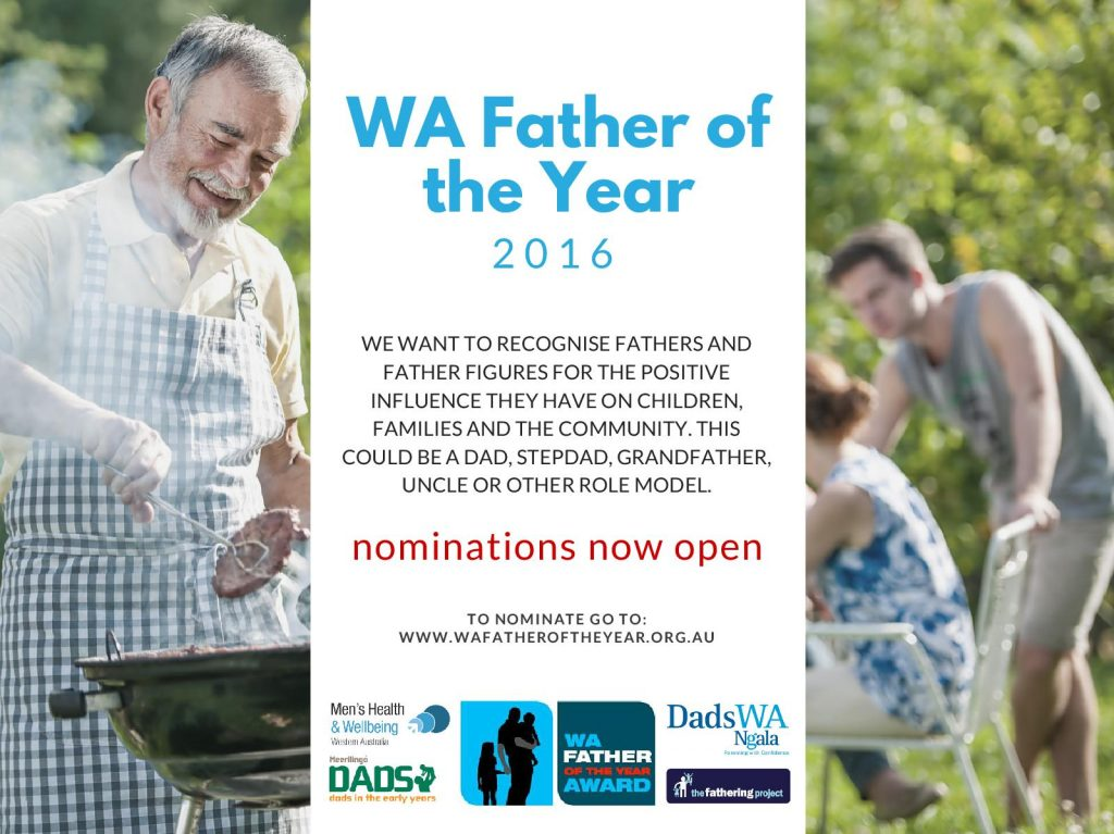 WA Father of the Year Award 2016 Nomination Flyer