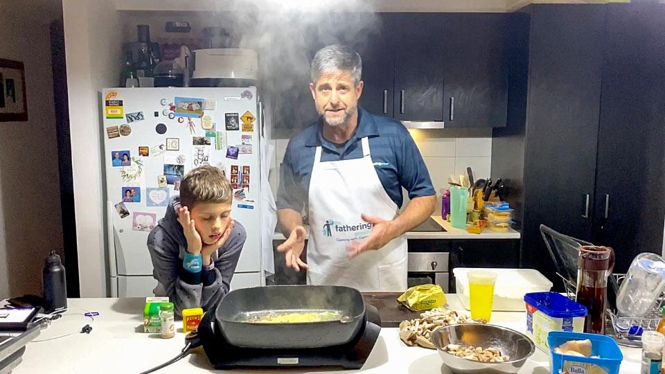 Cameron cooks a family favourite, chicken stroganoff
