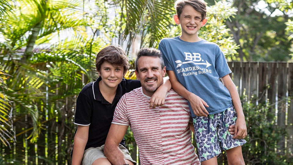 Lee Carseldine of Survivor AU fame chats about being an actively engaged dad with his two boys