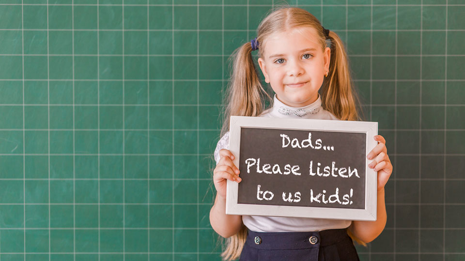 The importance of listening to your kids from Bruce Robinson