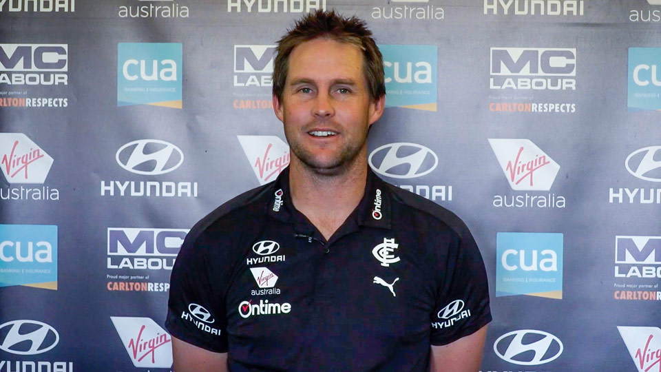 AFL Carlton coach David Teague talks about being an actively engaged father